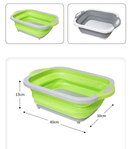 Kitchen Cutting Board Folding Chopping Board Blocks Washing Basket Board Kitchen Organizer