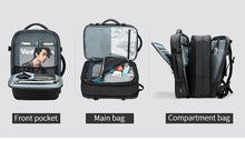 Load image into Gallery viewer, Travel Backpack Men 15.6 inch Laptop Multifunction Large Capacity Backpacks Water Repellent Business Backpack