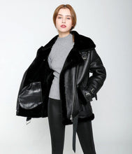 Load image into Gallery viewer, winter jacket women Double-faced Fur coat parka sheepskin Genuine Leather warm thick real wool fur liner brand