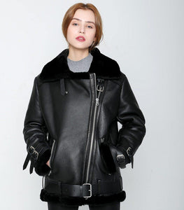 winter jacket women Double-faced Fur coat parka sheepskin Genuine Leather warm thick real wool fur liner brand