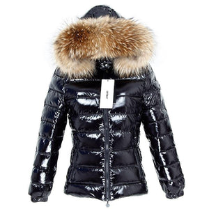 Winter Jacket Women Real Fur short Coat natural Raccoon Fur Collar Parka Duck Down jacket waterproof Streetwear