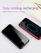 Load image into Gallery viewer, 8000mAh QI Wireless Power Bank Charger For iPhone Samsung With Dual USB Charger