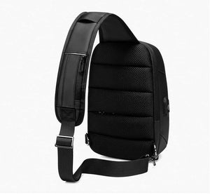 9.7 inch iPad Shoulder Bag for Men Business Crossbody Bags USB Charging Chest Pack Waterproof Messenger Bag Male