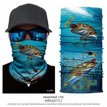 Load image into Gallery viewer, Fishing Face Mask Bandanas Ciclismo Sunscreen Cycling bandana Scarfs Neck Warmer Fish Headbands Tube men Sports outdoor