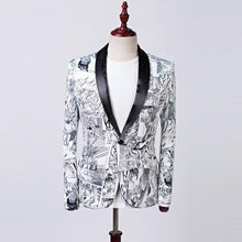 Load image into Gallery viewer, Graffiti flower Coat & Blazer men Jacket for wedding slim fit Casual blazer men stage tuxedos Formal Wear Coat