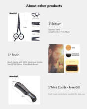 Load image into Gallery viewer, 8pcs/set Men Beard Kit Barba Grooming Beard Set Beard Oil Moisturizing Wax Blam Comb Essence Styling Scissors Hair Men Beard Set