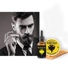 Load image into Gallery viewer, Men Beard Oil Kit barb Styling Grooming Growth with Beard Oil Comb Beard Cream
