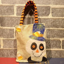 Load image into Gallery viewer, Halloween Decoration Linen Carrier Bag Halloween Party Gift Children Pumpkin Witch Black Cat White Ghost Candy Bag Decor