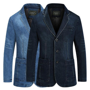 Jeans blazer For men 80% Cotton Coat jacket Denim jacket men blazer Coat for men