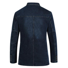 Load image into Gallery viewer, Jeans blazer For men 80% Cotton Coat jacket Denim jacket men blazer Coat for men