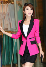 Load image into Gallery viewer, Women's Fashion Slim Coats Pocket Design Long-sleeve Women Blazers Jackets