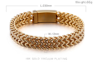 316 Stainless Steel Link Chain Bracelets For Men women Rhinestone Charm Trendy Gold Mesh Chain Bracelet Male female Birthday Gift