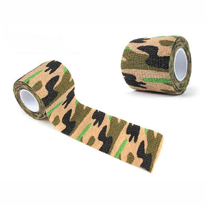 Outdoor Survival EDC Multi Tool Camping Hiking 4.5M Camouflage Tape Bandage for Bicycle Flashlight Camping Hunting Wrap