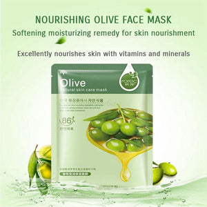10 Pcs/Lot sheet mask Skin Care Plant Facial Mask Moisturizing Oil Control Blackhead Remover Wrapped Mask Face Mask - moonaro