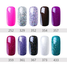 Load image into Gallery viewer, 28 Rough Color 8ML Gel Nail Polish Hybrid Varnish Semi Permanent UV Led Gel Polish Soak Off Lucky Base Top Primer GelLak ink
