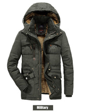 Load image into Gallery viewer, Winter Jacket Men Thick Warm Parka Coat Casual Fleece Fur Hooded windbreaker Military Jackets Man outwear clothes