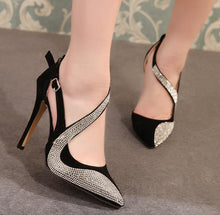 Load image into Gallery viewer, sexy high heels shoes women brand design high heels night club rhinestone women pumps high heels party wedding shoes heels
