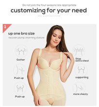 Load image into Gallery viewer, Shapewear body shaper Women butt lifter waist trainer Corrective Slimming underwear bodysuit Sheath Belly faja girdle belts
