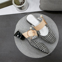 Load image into Gallery viewer, New Mules Square Med Heels Metal Decoration Shoes Woman Casual Party Summer Pumps