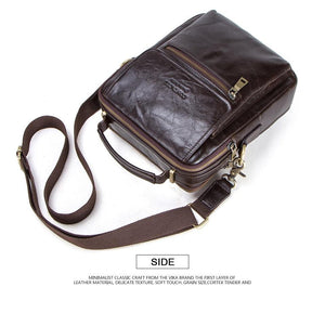 "genuine leather messenger bag for men casual shoulder bags male flap bag luxury brand crossbody bags for 9.7"" Ipad"