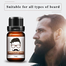 Load image into Gallery viewer, 1pc Men Natural Organic Styling Moustache Oil Moisturizing Smoothing Dashing Gentlemen Beard Oil Face Hair Care Top Quality