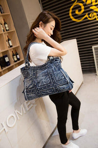 Fashion Denim Women Bag Jeans Shoulder Bags Girls Handbags Crossbody Bag Women Messenger Bags