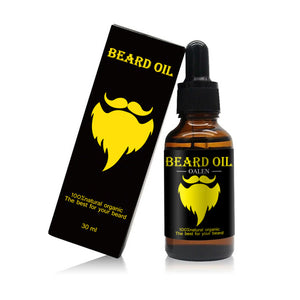 Men 100% Natural Organic Beard Oil  Beard Comb Styling for Groomed Beard Growth Care Set Or Single Product
