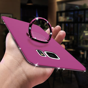 Diamond Silicone Soft Case Cover for Samsung Galaxy S8 S9 Plus S7 Edge A3 A5 A7 J3 J5 J7 2016 2017 A6 A8 Plus 2018 Phone Cases