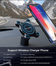 Load image into Gallery viewer, Car Mount Qi Wireless Charger For Samsung Galaxy S9 S10 S8 Note 9 Wireless Charging Car Phone Holder For iPhone XS MAX X