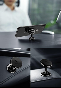 Magnetic Car Phone Holder Mount Stand Double 360 Rotatable Ball Car Holders For iPhone Samsung Cell Mobile Phone Holder