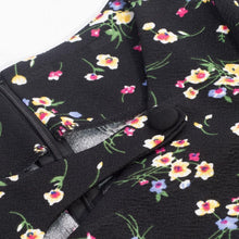 Load image into Gallery viewer, Autumn Winter Print Floral Patchwork Button Casual Dress Business Zip Back Bodycon Office Dress