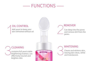 Viable Yeast Foam Face Wash Moisturzing Whitening Exfoliator Skin Care Soft Massage Brush Face Cleanser Korean Cosmetics