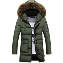 Load image into Gallery viewer, Parka Men winter jackets New Thick  Long Winter Parkas Warm Fashion Business Jackets  Coats Fur Hooded