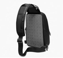"Load image into Gallery viewer, 9.7"" iPad Crossbody Bag Men Short Trip Chest Pack Fashion Messenger Bags Water Repellent Shoulder Bag"