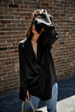 Load image into Gallery viewer, Women Black Satin Loose Shirt Women's Streetwear Fashion Blouse Ladies's Clothing High Quality
