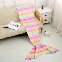 Load image into Gallery viewer, mermaid blanket fleece adult mermaid tail blankets for girls kids Children Christmas gifts throw super soft sleeping bag