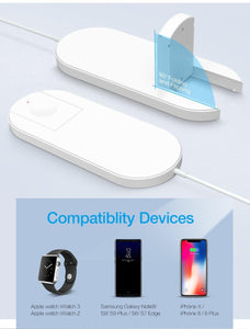 Wireless Charger For iPhone XR XS MAX X 8 QI Wireless Charging Pad For Apple Watch 2 3 USB Charger For Samsung S8 S9 S10