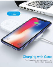 Load image into Gallery viewer, Wireless Charger For iPhone XR XS MAX X 8 QI Wireless Charging Pad For Apple Watch 2 3 USB Charger For Samsung S8 S9 S10