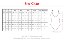 Load image into Gallery viewer, One Piece Swimsuit Push Up Monokini Solid Bodysuit Set Sexy Beach Wear Maillot de Bain Femme Bodysuits
