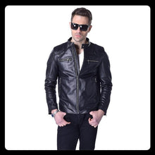 Load image into Gallery viewer, Beckham Leather Jacket Men Leather Jacket Genuine Sheepskin Jackets Black Brown Autumn Male Leather Coat Spring