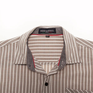 Summer Fashion Striped Shirt Men Casual Long Sleeved Social Business Dress Shirt Male Cotton Clothes