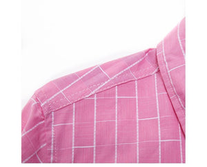 New 100% Cotton Plaid Shirt Men Casual Slim Fit Long Sleeve Dress Shirts Men's Summer Shirt Chemise