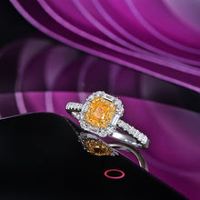 Load image into Gallery viewer, 14KT/585 white Gold 0.81ct Natural Diamond Engagement Gemstone Wedding Band Ring Jewelry