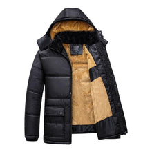 Load image into Gallery viewer, Winter Men Parka Coats Windproof Outwear Thick Men's Hooded Jacket Coat New Warm Thicken Zipper Overcoat Male Hat Detachable