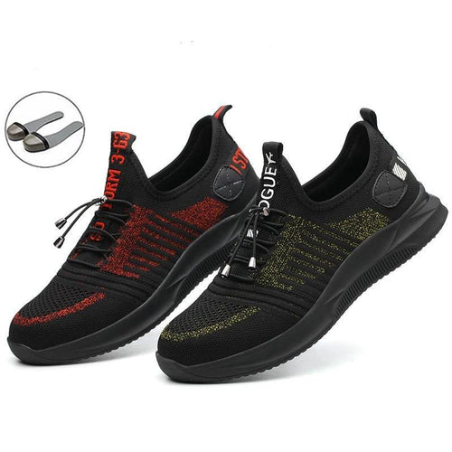 Men Safety Work Shoes Sneakers Security Anti-smashing Boots Steel Toe Cap Construction Mesh Sneakers