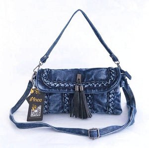 brand new retro women messenger bags small shoulder bag high quality Denim tote bag small clutch handbags