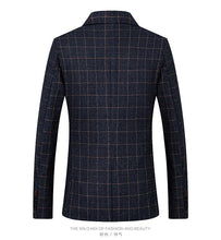 Load image into Gallery viewer, Men Blazers Spring British Style Plaid Male Slim Fit Business Casual Blazer Coat Men Brand Outwear Jacket - moonaro