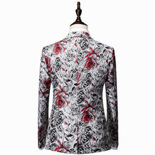 Load image into Gallery viewer, Casual Party Suits men blazer hombre Men's suits with pants Slim fit Men's blazer jacket Flower