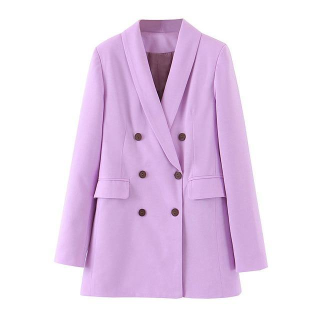 fashion women purple blazer long sleeve work wear style female blazer office ladies outwear