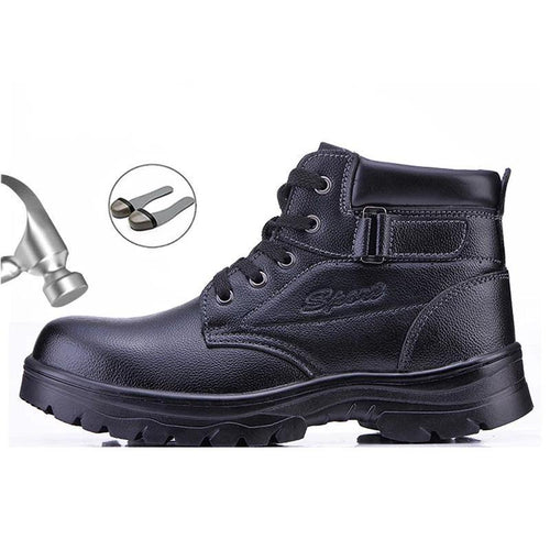 Motorcycle Safety Work Shoes Boots For Men Steel Toe Head Safety Shoes Anti-smashing Security Work Shoes Boots